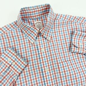 BROOKS BROTHERS Long Sleeve Shirt Medium M FLAW
